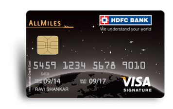 HDFC All Miles Cerdit Card Details and Benefits