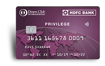 HDFC Diners Club Privilege Credit Card Details and Benefits