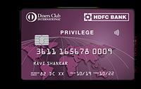 HDFC Diners Club Privilege Credit Card