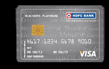 HDFC Teachers Platinum Credit Card Details and Benefits