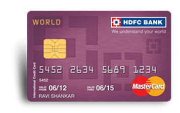 HDFC World MasterCard Credit Card Details and Benefits