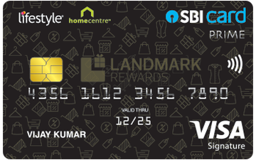 Lifestyle Home Centre SBI Card PRIME Details and Benefits