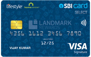 Lifestyle Home Centre SBI Card SELECT Details and Benefits