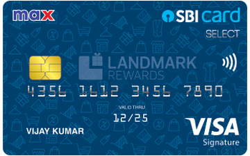Max SBI Card SELECT Details and Benefits