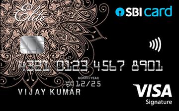 SBI ELITE Credit Card Details and Benefits