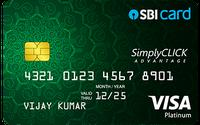 SimplyCLICK Advantage SBI Card