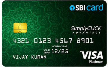 SimplyCLICK Advantage SBI Card Details and Benefits