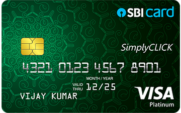 SimplyCLICK SBI Card Details and Benefits