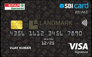 Spar SBI Card PRIME Details and Benefits