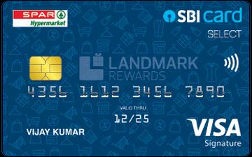 Spar SBI Card SELECT Details and Benefits